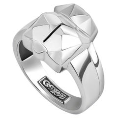Sterling Silver Mens 3D Scarab Ring