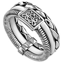Sterling Silver Men's Multi-Band Ring