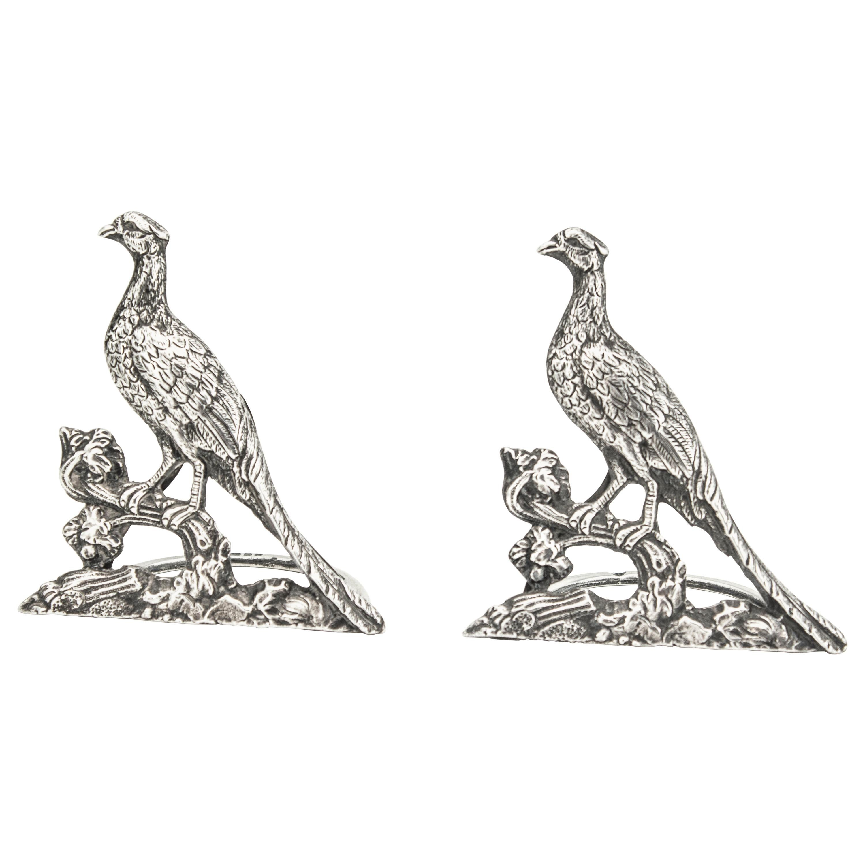 Sterling Silver Menu Holders