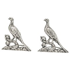 Sterling Silver Menu Holders