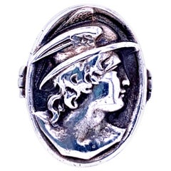 Sterling Silver Mercury Coin Ring