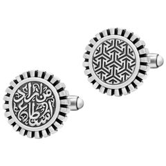 Sterling Silver Mismatched Cufflinks