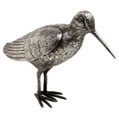 Sterling Silver Model Bird Snipe Figure, 1974