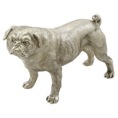 Sterling Silver Model of a Pug by BSE Products