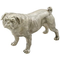 Sterling Silver Model of a Pug