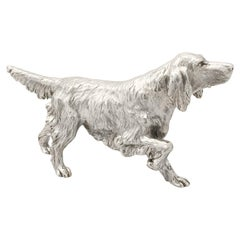 Sterling Silver Model of an Irish Setter Contemporary, 2011