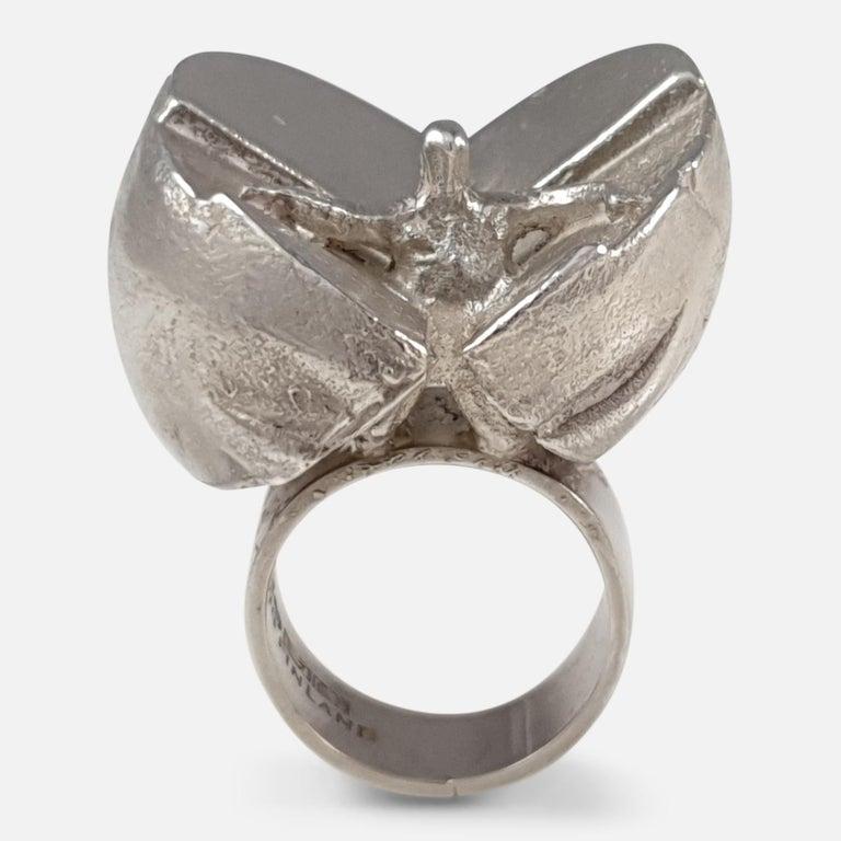 Item: - A superb Finnish sterling silver modernist