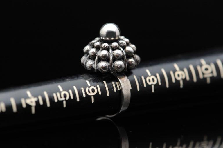 Sterling Silver Modernist Ring E. Granit Finland Vintage Scandinavian For Sale 7
