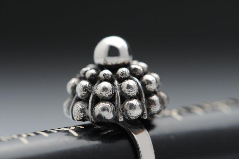 Sterling Silver Modernist Ring E. Granit Finland Vintage Scandinavian For Sale 8