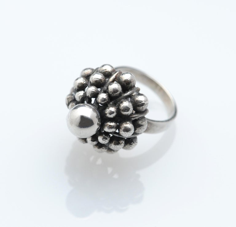 Sterling Silver Modernist Ring E. Granit Finland Vintage Scandinavian In Good Condition For Sale In Washington, DC