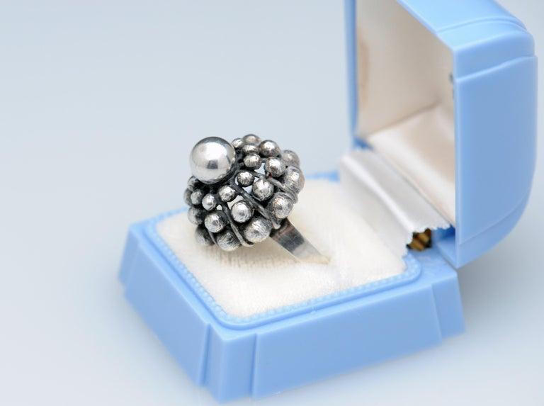 Sterling Silver Modernist Ring E. Granit Finland Vintage Scandinavian For Sale 1
