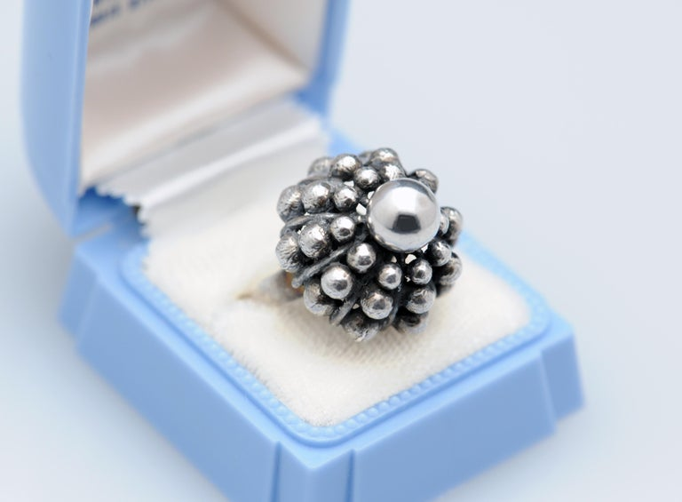Sterling Silver Modernist Ring E. Granit Finland Vintage Scandinavian For Sale 2