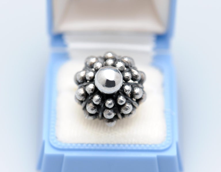 Sterling Silver Modernist Ring E. Granit Finland Vintage Scandinavian For Sale 3