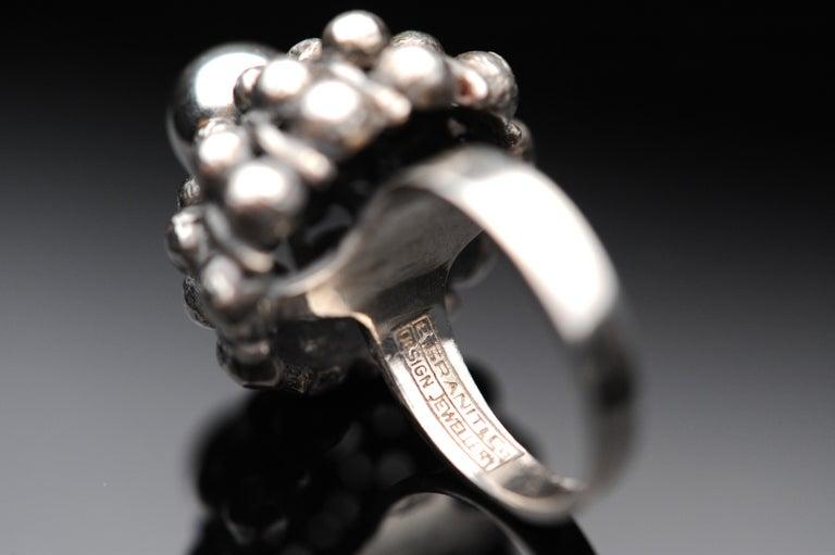 Sterling Silver Modernist Ring E. Granit Finland Vintage Scandinavian For Sale 4