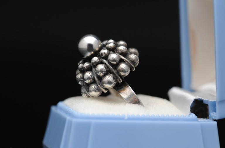 Sterling Silver Modernist Ring E. Granit Finland Vintage Scandinavian For Sale 6