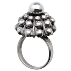 Sterling Silver Modernist Ring E. Granit Finland Vintage Scandinavian