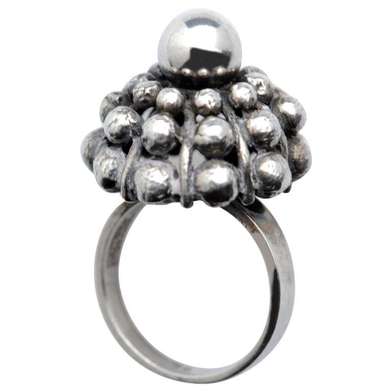 Sterling Silver Modernist Ring E. Granit Finland Vintage Scandinavian For Sale