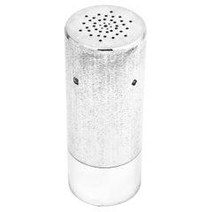 Sterling Silver Modernist Salt / Pepper Shaker / Caster, 1981