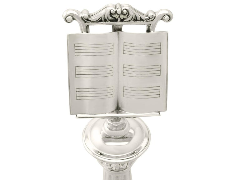 Other Sterling Silver Music Stand Trophy, Vintage George VI For Sale
