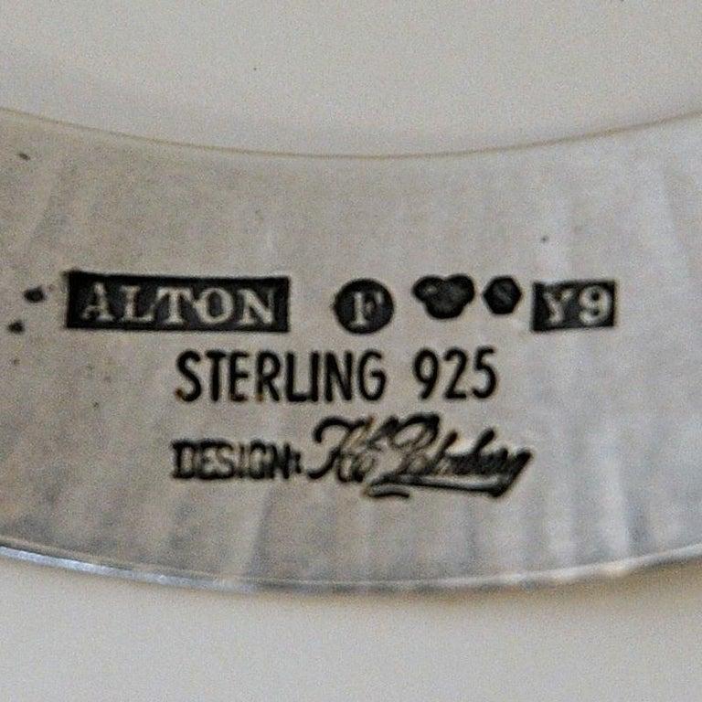 Sterling Silver Neck Ring by KE Palmberg for Alton, Sweden, 1973 For Sale 1