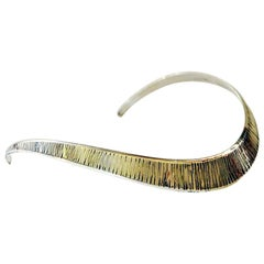 Sterling Silver Neck Ring by KE Palmberg for Alton, Sweden, 1973