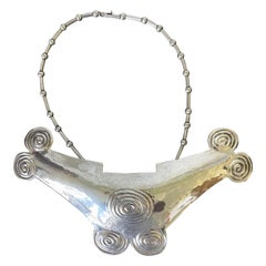 Sterling Silver Necklace with Large Pendant Graziella Laffi