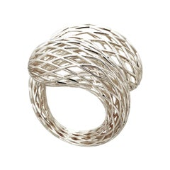 Sterling Silver Net Ring Aenea Jewellery