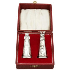Sterling Silver Novelty Salt and Pepper Shakers