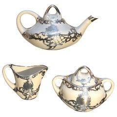 Sterling Silver Overlay Tea Set
