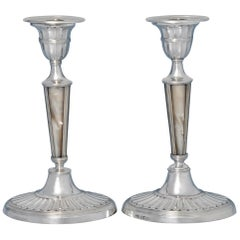 Sterling Silver Pair of Candlesticks
