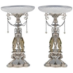 Sterling Silver Pair of Dessert Stands