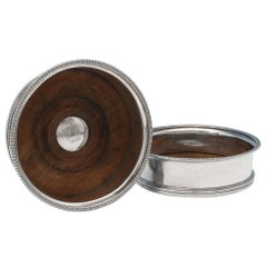 Sterling Silver Pair of Wine Coasters