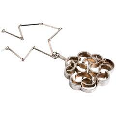 Sterling silver pendant designed by Rey Urban Sweden c.1960