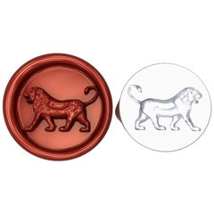 Sterling Silver Persepolis Walking Lion Signet Wax Seal Ring