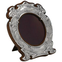 William Shakespeare Inspired Art Nouveau Sterling Silver Photograph Frame 1904