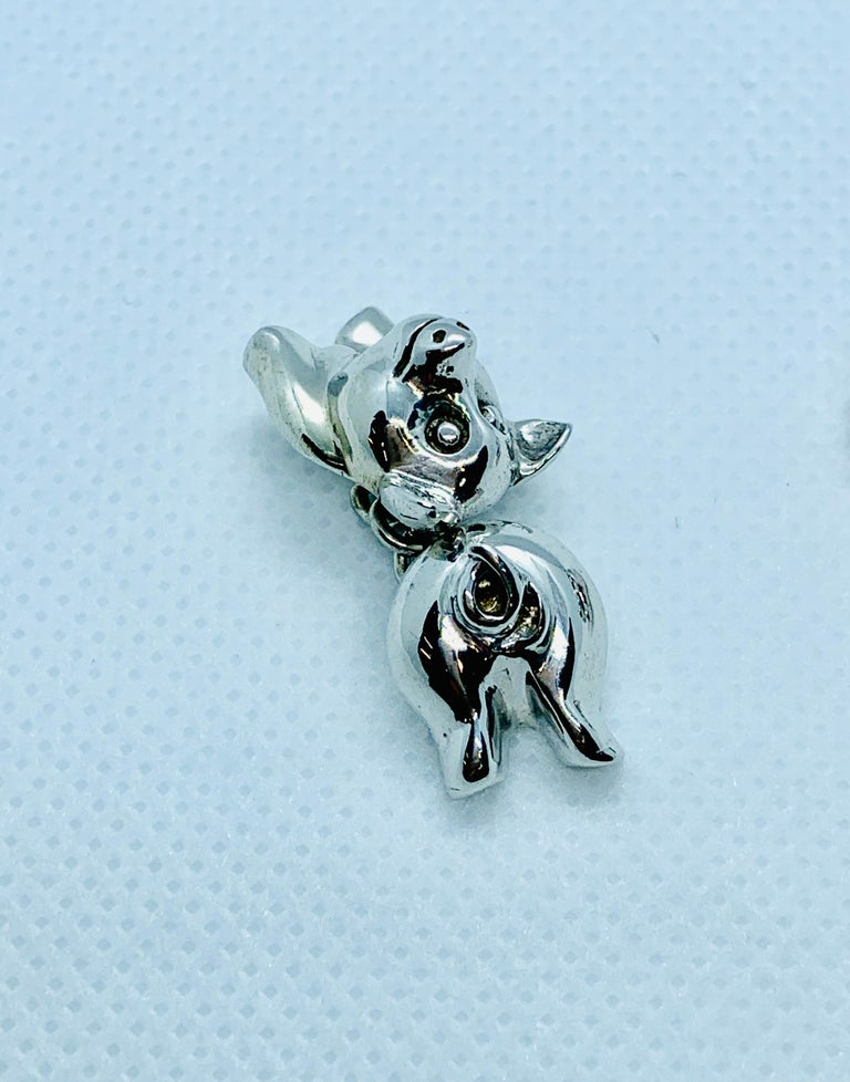 Sterling Silver Pig Cufflinks For Sale 6