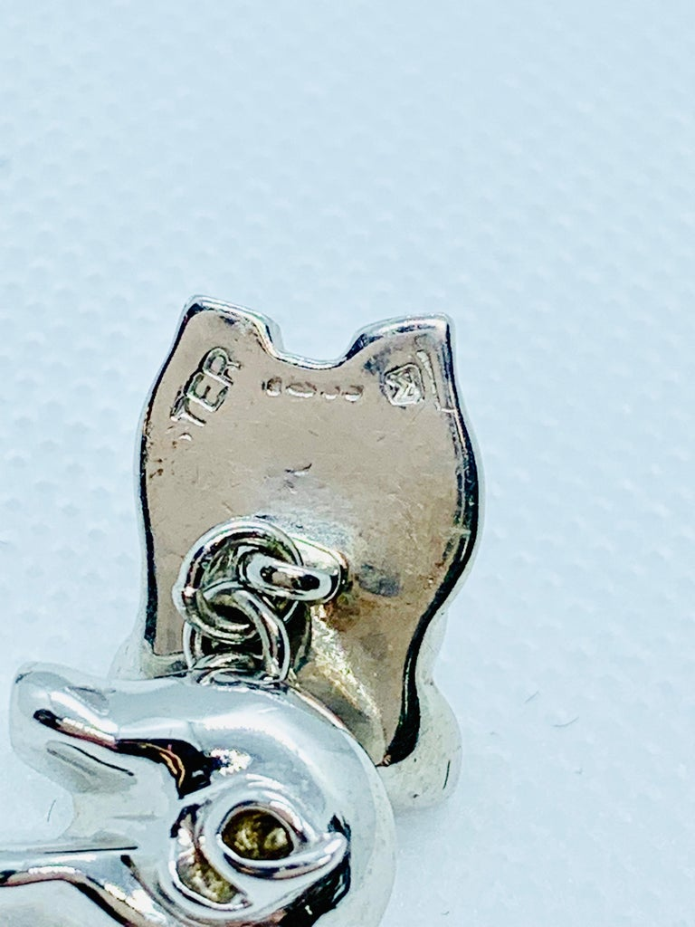 Sterling Silver Pig Cufflinks In Excellent Condition For Sale In Birmingham, AL