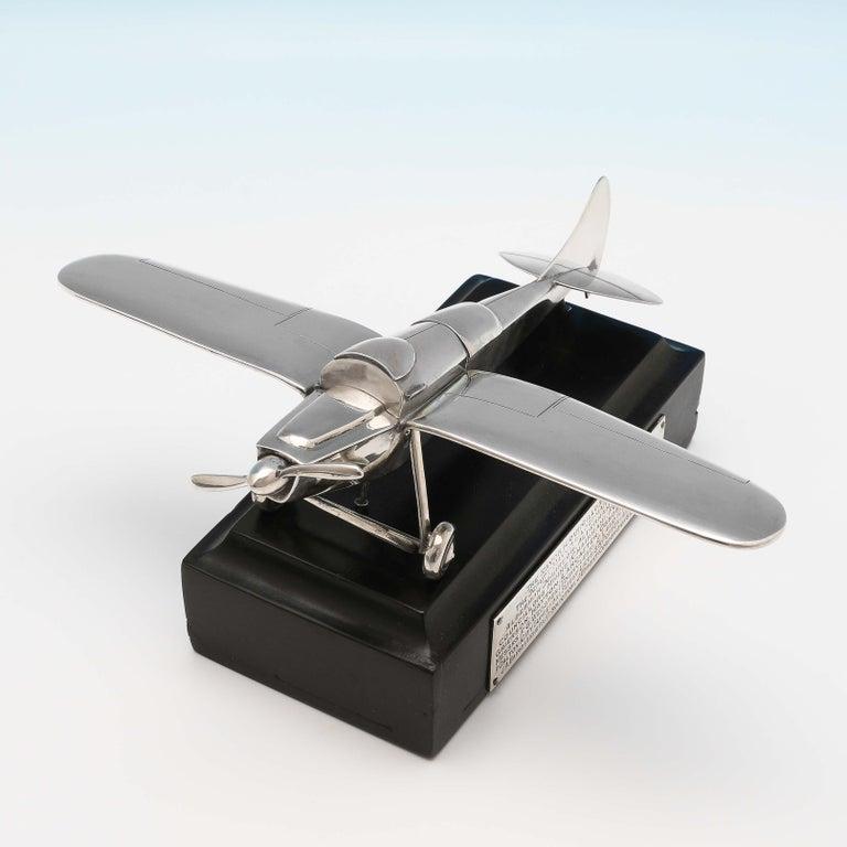 Art Deco RAF Interest, RAF Kingstown, Early Battery Operated Plane Cigar Lighter, 1936