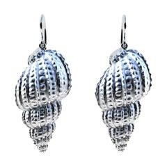 Sterling Silver Polka Dot Shell Earrings