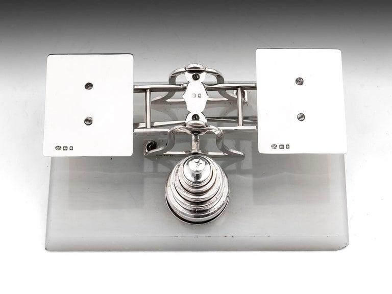 Art Deco Sterling Silver Postal Scales George Betjemann & Sons For Sale