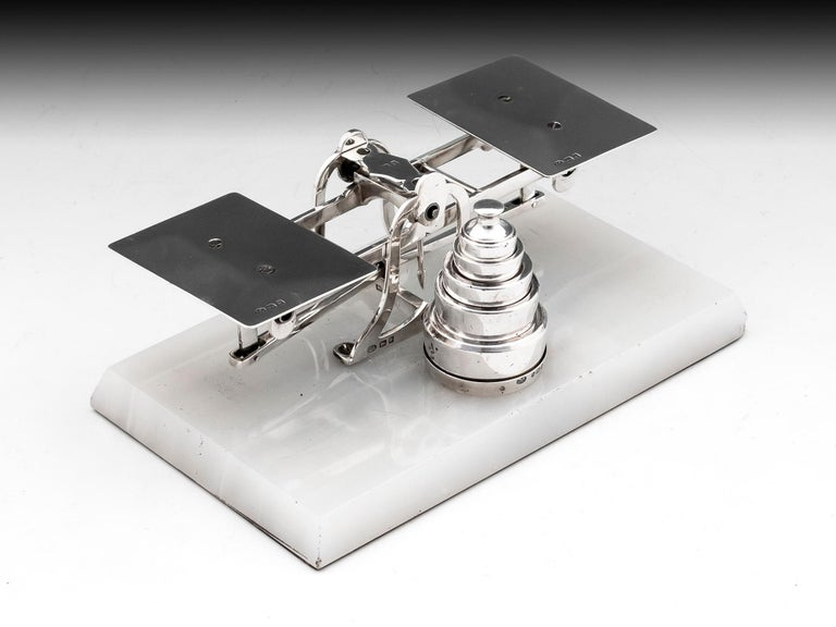 20th Century Sterling Silver Postal Scales George Betjemann & Sons For Sale