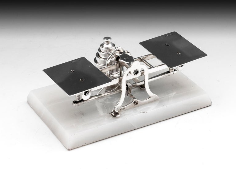 Sterling Silver Postal Scales George Betjemann & Sons For Sale 1