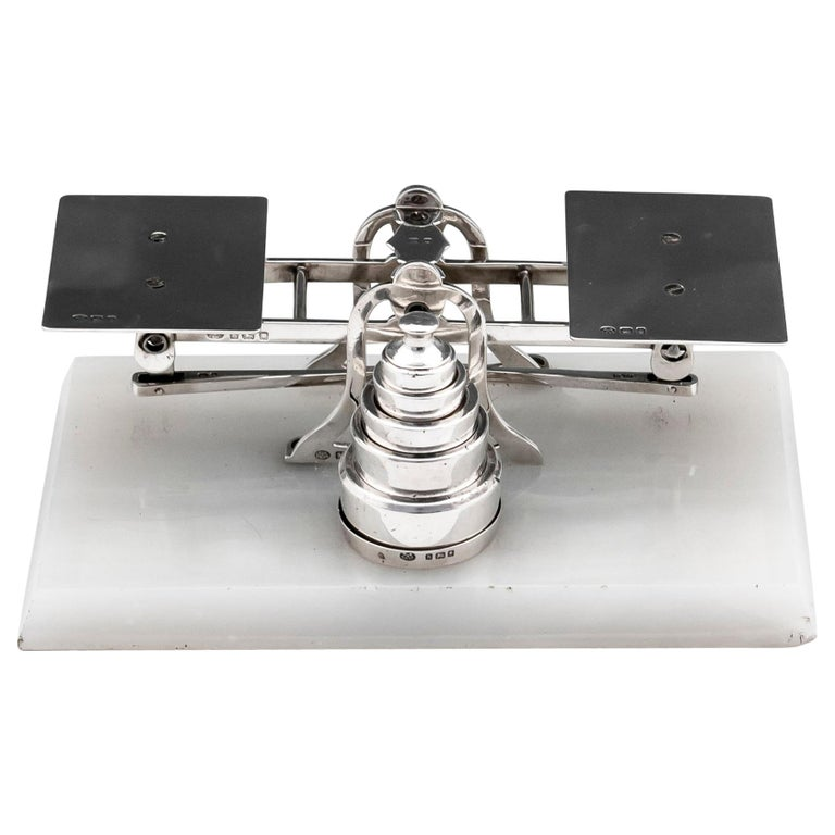 Sterling Silver Postal Scales George Betjemann & Sons For Sale