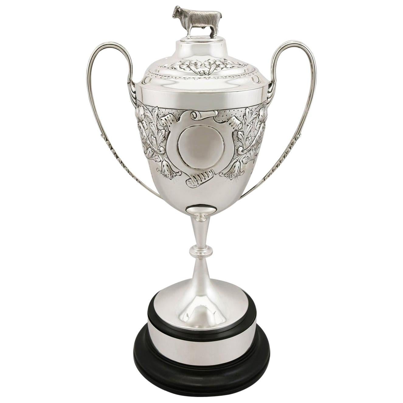 Sterling Silver Presentation Cup and Cover, Antique Edwardian, 1902