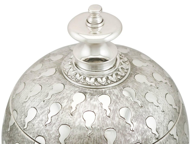 Late 20th Century Sterling Silver Presentation Cup and Cover For Sale