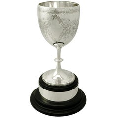 Sterling Silver Presentation Cup by Charles Stuart Harris, Antique Victorian