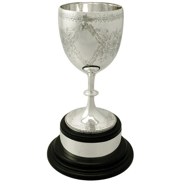 Sterling Silver Presentation Cup by Charles Stuart Harris, Antique Victorian For Sale