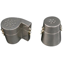 Sterling Silver Punctuation Salt and Pepper