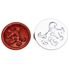 Sterling Silver Rampant Lion Signet Wax Seal Ring