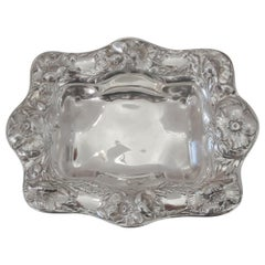 Sterling Silver Repousse Scalloped Edge Bowl Made by Gorham